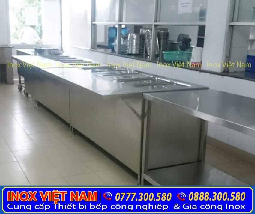 Quầy hâm nóng thức ăn, Quầy giữ nóng thức ăn, Tủ làm nóng thức ăn, Tủ giữ nóng thức ăn sản xuất Inox Việt Nam.