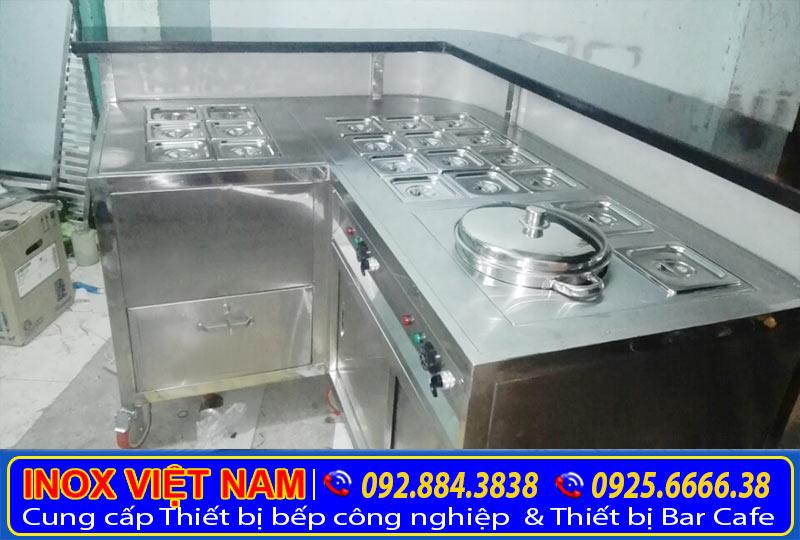 Tủ hâm nóng, Tủ giữ nóng thức ăn, Tủ làm nóng thức ăn, Quầy hâm nóng món ăn, Inox 304 cao cấp.