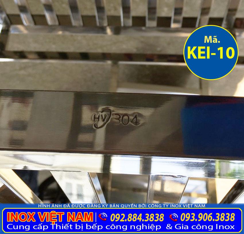Kệ nhà bếp 4 tầng inox 304 cao cấp và chính hãng sản xuất tại Bếp Inox Việt Nam.
