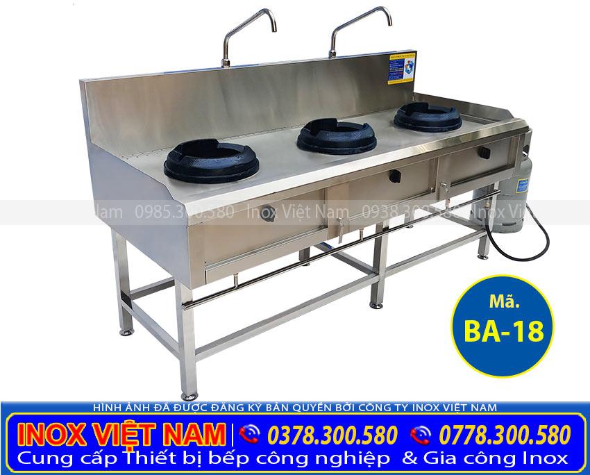 Báo giá bếp á 3 họng kiềng gang BA-18. Mua ngay các thiết bị bếp á, bếp á đơn, bếp á đôi, bếp á 3 họng, bếp á công nghiệp. Với mức giá tốt ưu đãi chỉ có tại Inox Việt Nam.