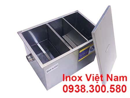 Bể tách mỡ inox công nghiệp  Bẫy tách mỡ inox  Địa chỉ mua bể tách mỡ inox.