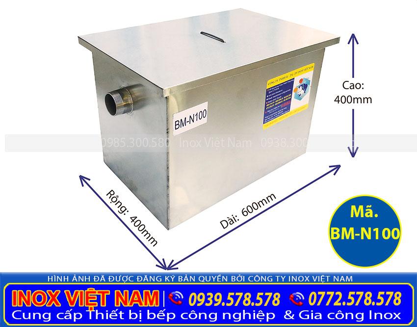 Bể tách mỡ inox công nghiệp  Bẫy mỡ inox sản xuất Inox Việt Nam.