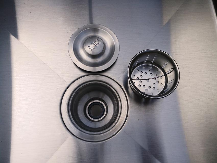 Bộ xả nước chậu rửa công nghiệp, bồn rửa công nghiệp hộc lơn, hộc nhỏ.
