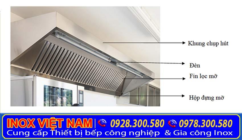 cấu tạo của chụp hút khói bếp inox