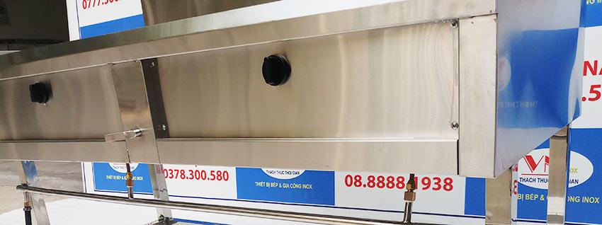 IVN sản xuất Bếp công nghiệp 2 họng, bếp khè 2 họng   bếp á kiềng tô nổi hoặc chìm theo yêu cầu khách đặt. Liên Hệ Inox Việt Nam ngay.