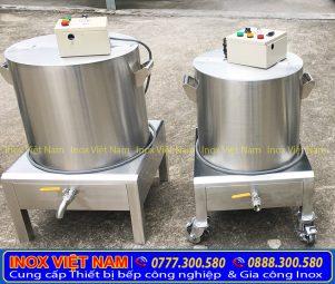 giá bộ nồi hầm xương nấu phở bằng điện 60 - 100L