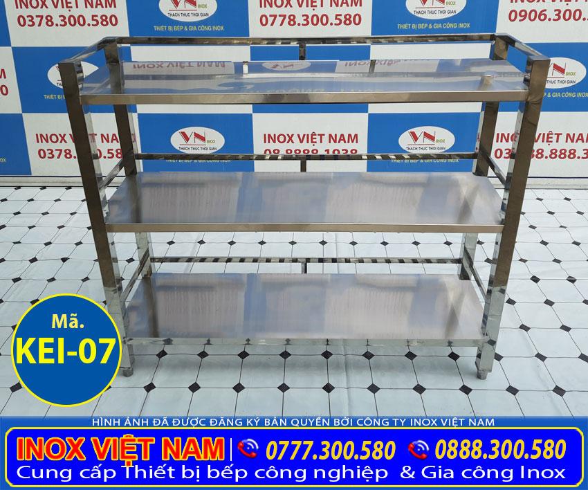 Mua kệ bếp inox 3 tầng tại Bếp Inox Việt Nam với giá ưu đãi nhất và bảo hành tốt nhất.