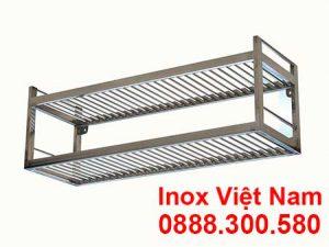 Kệ Inox Song 2 Tầng Treo Tường