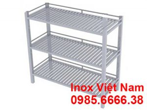 kệ inox 3 tầng thanh song