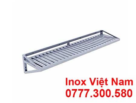 Kệ Inox Thanh 1 Tầng Treo Tường