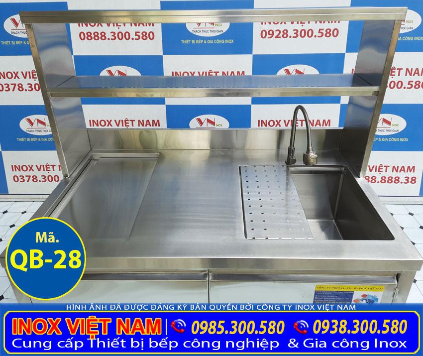 Inox Việt Nam là đơn vị cung cấp và sản xuất quầy pha chế trà sữa đẹp.
