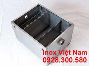 lắp đặt bẫy mỡ inox 250L
