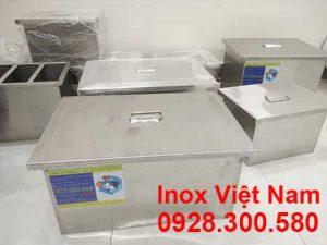 lắp đặt bể tách mỡ inox 140L