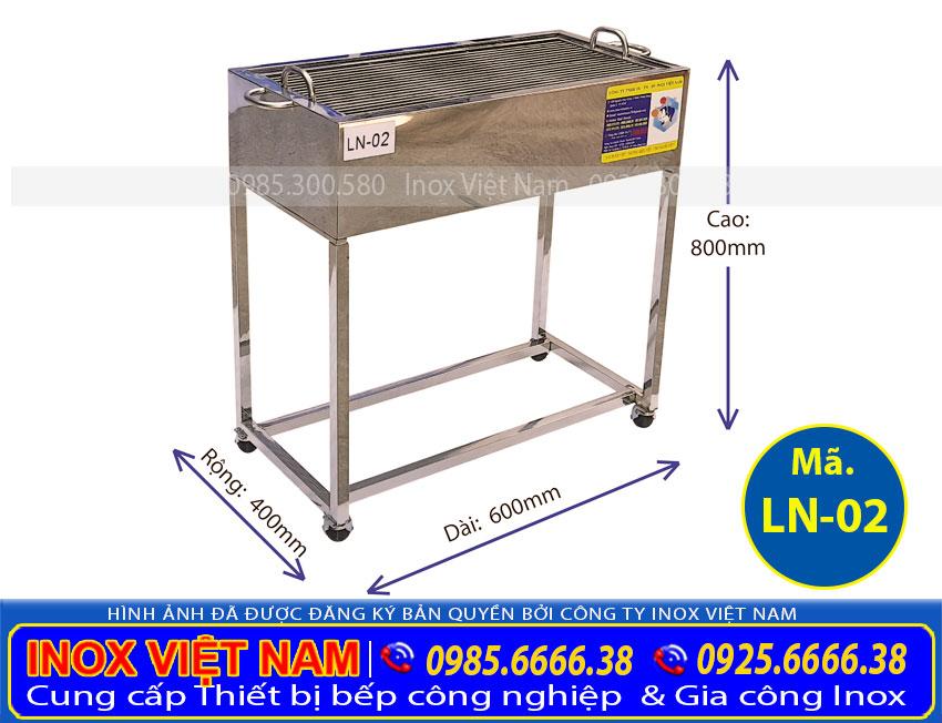 Lò nướng than inox LN-02
