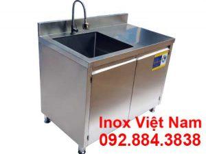 Báo giá tủ đựng chén bát có bồn rửa inox, địa chỉ bán tủ inox 4 tầng tại TPHCM.