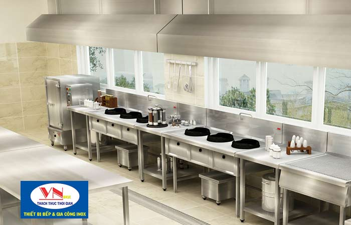mô hình thiết bị bếp công nghiệp
