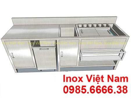 quầy bar inox 1m6