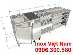 quầy pha chế inox qb18018
