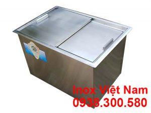 Thùng đá inox âm bàn,Thùng Đá Inox 304 - Thùng Đá Âm Bàn Quầy Bar,Thùng đá inox quầy bar, thùng đựng chứa đá.