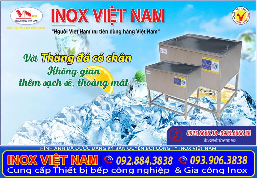 Thùng đá inox| Thùng đá quầy bar inox| Thùng đựng đá sản xuất Inox Việt Nam