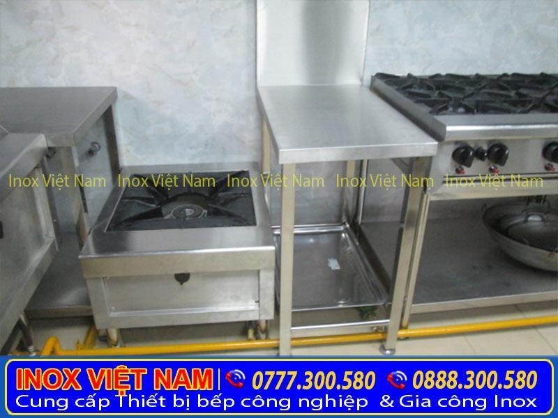 Đơn vị cung cấp sản phẩm bàn inox gia vị 2 tầng uy tín