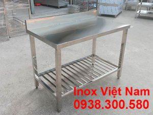 Bàn Inox Có Kệ Thanh BAI-15
