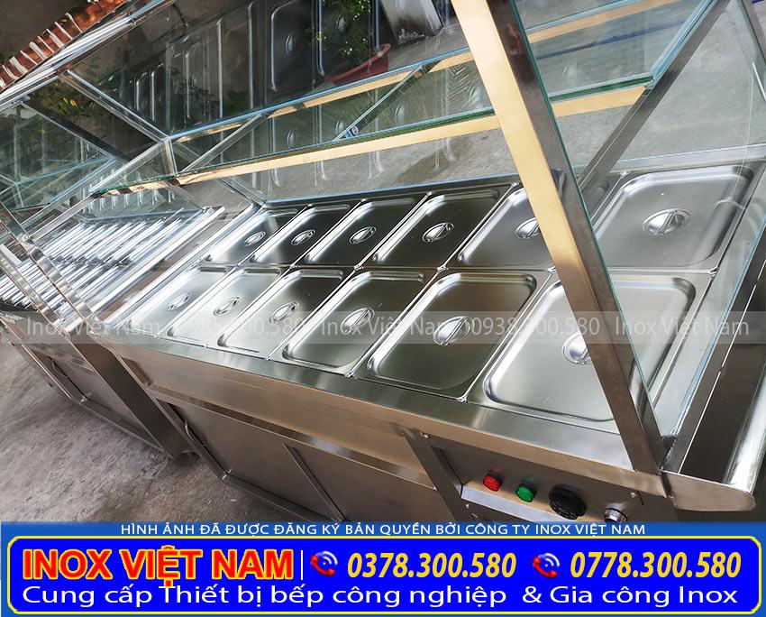 Báo giá Tủ hâm nóng thức ăn 12 khay cao cấp của Inox Việt Nam (Ảnh thật tế).
