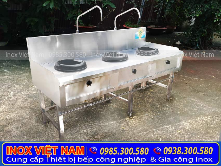 bếp á 3 họng đốt Inox Việt Nam