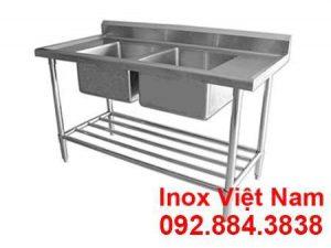 Chậu rửa có đôi kệ dưới sản xuất tại Inox Việt Nam
