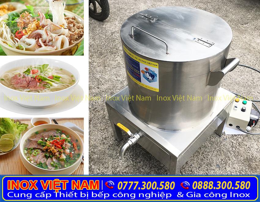 giá bộ nồi nấu phở bằng điện tại Inox Việt Nam