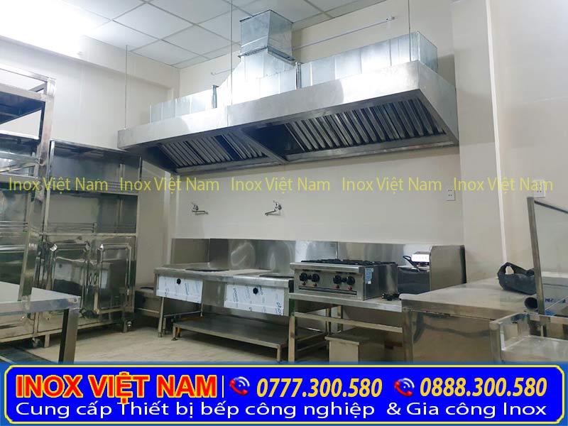 thi công hệ thống hút khói công nghiệp - Bếp Inox Việt Nam