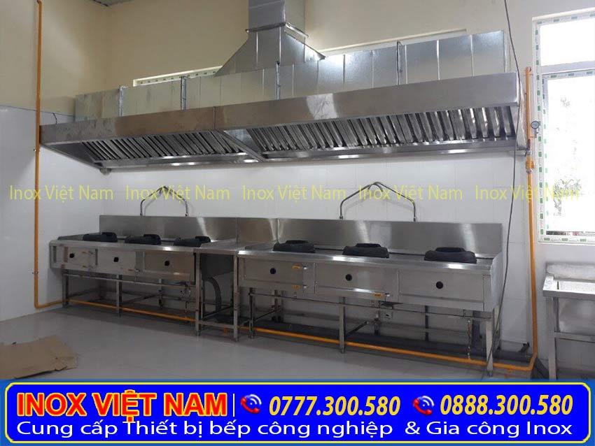 hệ thống chụp hút khòi bếp công nghiệp