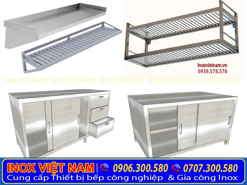 Inox Việt Nam chuyên sản xuất các thiết bị inox như: kệ inox, bàn inox, tủ inox,..