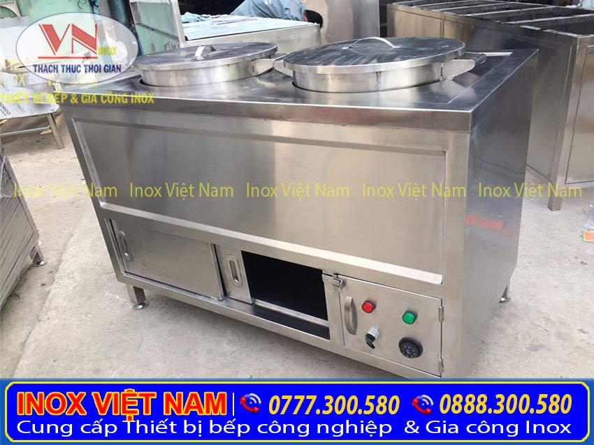 Tủ hâm nóng 2 nồi chất lượng cao do Inox Việt Nam sản xuất
