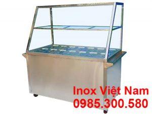 Tủ Hâm Nóng Thức Ăn 14 Khay Inox TH-04