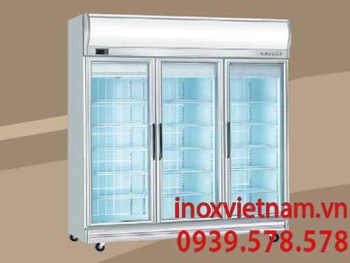 Tủ mát 3 cánh kính Berjaya có thiết kế hết sức chắc chắn và gọn gàng