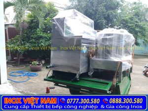 Hình ảnh thật tế giao hàng nồi nấu phở điện tận nơi tại Bếp Inox Việt Nam