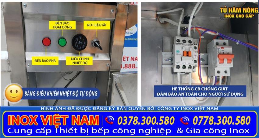 phần điện của tủ bán cơm hâm nóng, tủ giữ nóng thức ăn TH-02 (Ảnh thật tế).