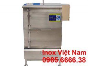 Mẫu tủ hấp bánh bao công nghiệp, tủ hấp bánh bao 6 khay sử dụng điện và gas