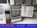 Tủ nấu cơm 6 khay - Tủ hấp cơm 30kg bằng điện và gas