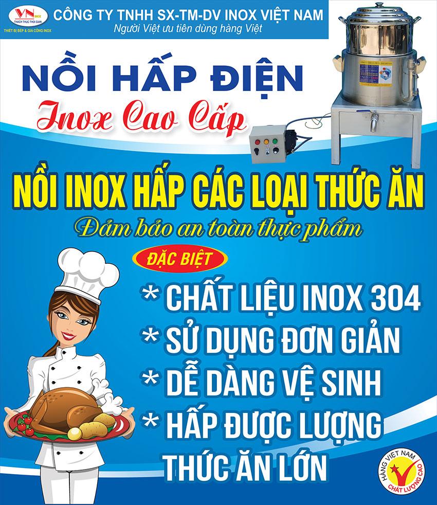 Giá nồi hấp cách thủy cong nghiệp Inox Việt Nam