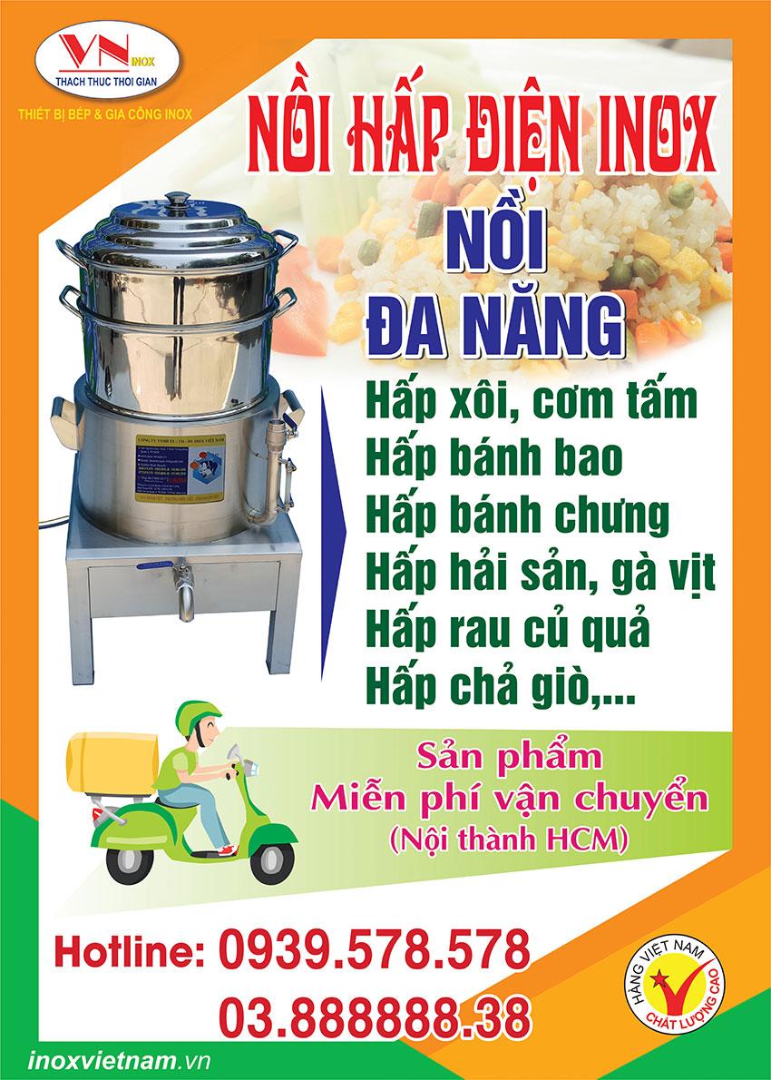 Giá nồi hấp điện công nghiệp Inox Việt Nam