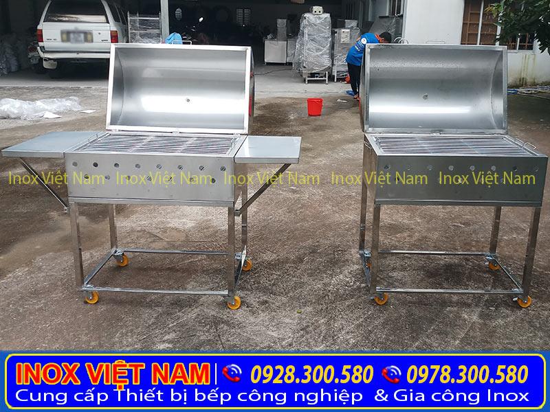 Inox Việt Nam - Địa chỉ mua lò nướng inox, lò nướng sườn inox, bếp nướng than inox gái tốt chất lượng. Kiểu dáng sang trọng, mẫu mã sang trọng. (Ảnh thật tế).