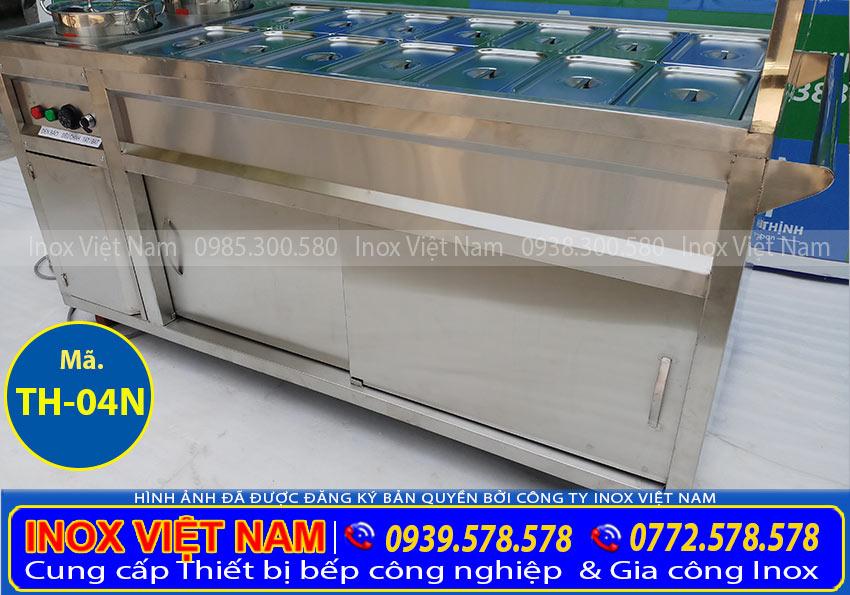 Phần thân tủ dưới của Tủ hâm nóng thức ăn 14 khay + 2 nồi TH-04N.