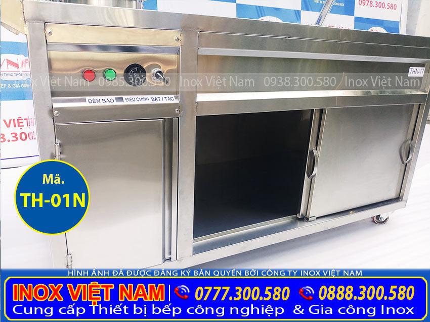 Phần thân của tủ giữ nóng thức ăn 8 khay 2 nồi TH-01N (Ảnh thật tế).