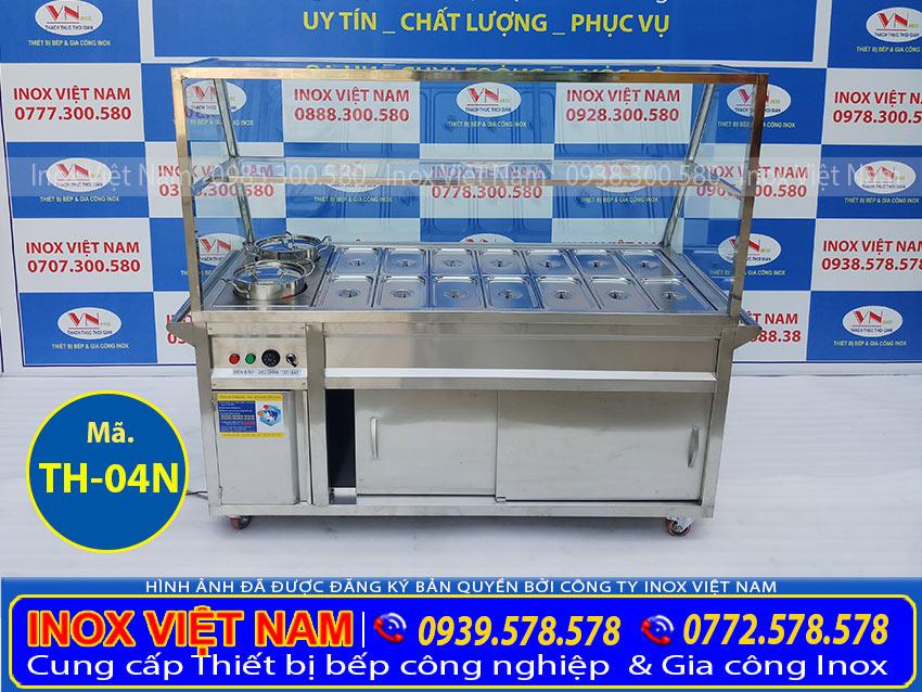 Hình ảnh chính diện Tủ hâm nóng thức ăn 14 khay + 2 nồi TH-04N.