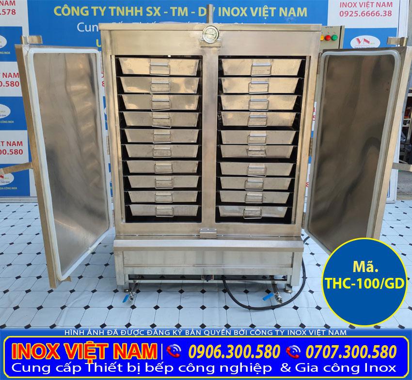 Bếp Inox Việt Nam - Đơn vị cung cấp tủ nấu cơm bằng điện và gas 100 kg tại Việt Nam.