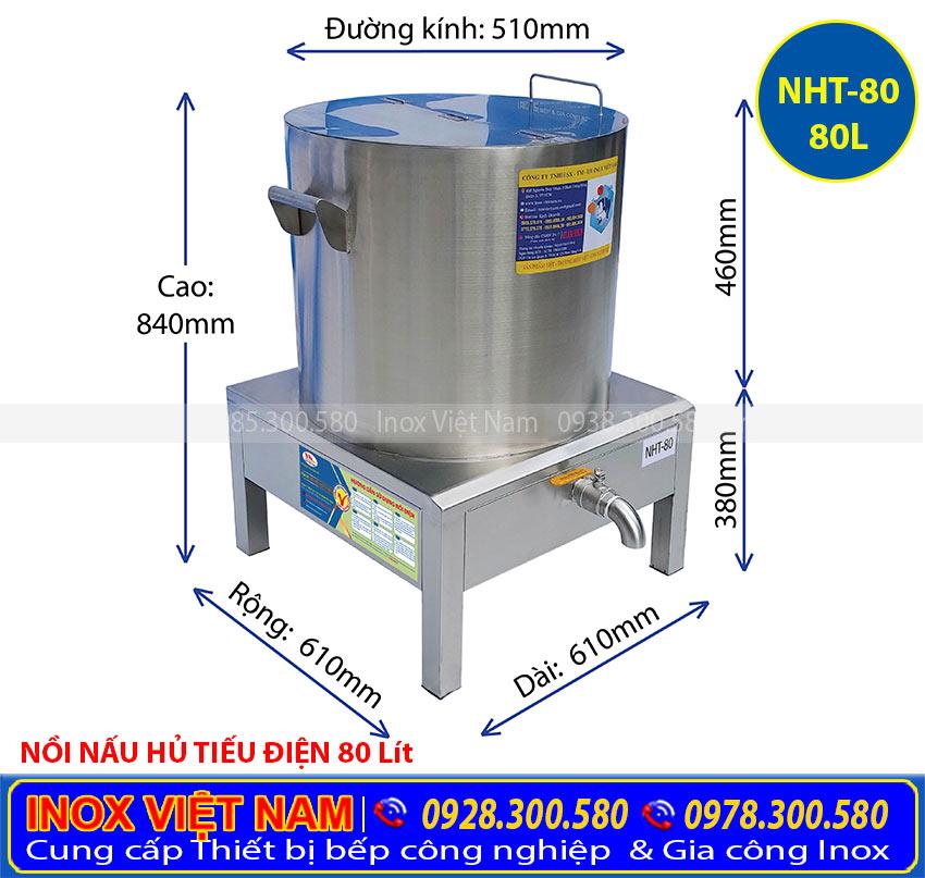 Thông số kỹ thuật về Nồi nấu hũ tiếu bằng điện, Nồi nấu phở bằng điện, Nồi điện hầm xương.