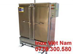 Mẫu tủ nấu cơm công nghiệp | Tủ hấp cơm công nghiệp 16 khay bằng ga và điện | Tủ nấu cơm bằng gas và điện 80 kg.