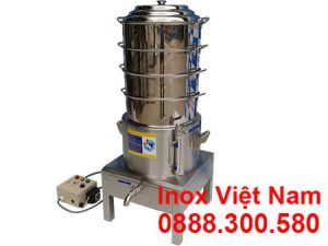 Nồi hấp bánh bao điện, nồi hấp điện công nghiệp 4 tầng do Inox Việt Nam sản xuất